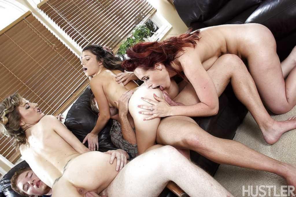 Три пары устроили отличную свингер вечеринку